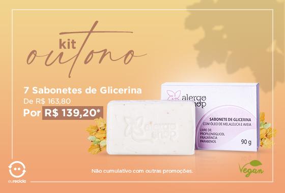 Kit Sabonete Glicerina Vegano