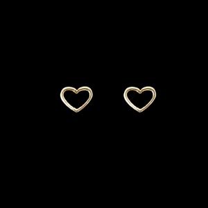 Brinco Folheado a Ouro Infantil - Coração