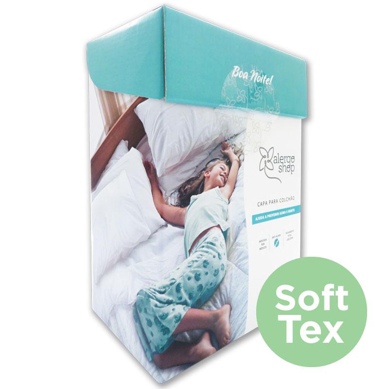 Capa de colchão solteiro Soft Tex