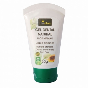 Gel Dental Natural Aloe Mamão Livealoe
