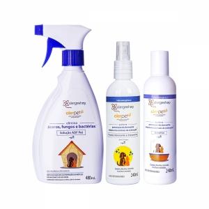 Kit Outono/Inverno - 1 Adf Pet + 1 Shampoo Alerpet + 1 Fluído Hidratante e Preventivo Alerpet