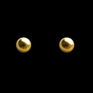 Brinco Folheado a Ouro - bolinha