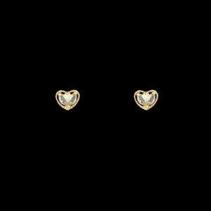 Brinco Folheado a Ouro Infantil - Coração Brilhante