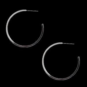 Brinco Banhado a Rhodium - argola Ø=4cm