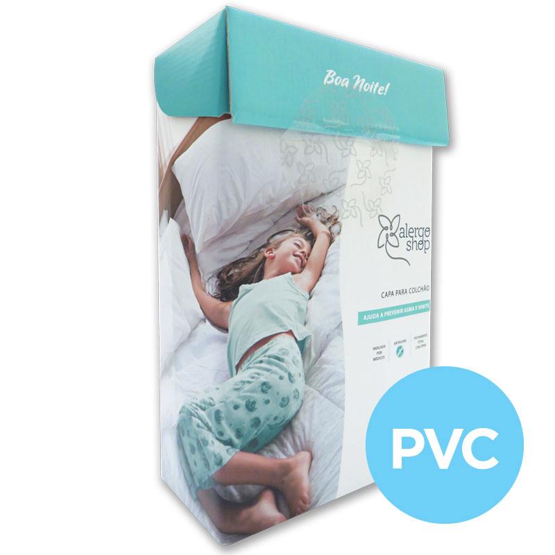 Capa de colchão solteiro King PVC
