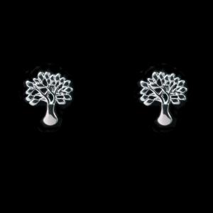 Brinco Banhado a Rhodium - Árvore da vida