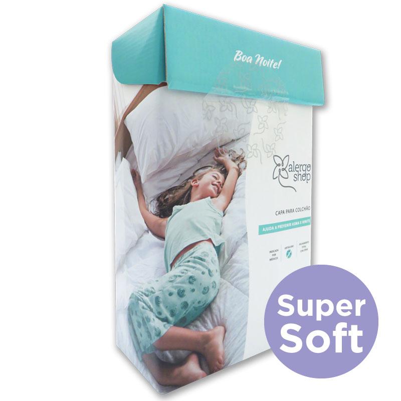 Capa de colchão solteiro king Super Soft