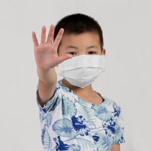 Máscara Lavável Facial Infantil 5 unidades com Tratamento Antimicrobiano