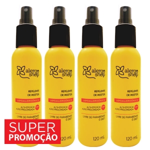 Kit com 4 Repelentes Alergoshop