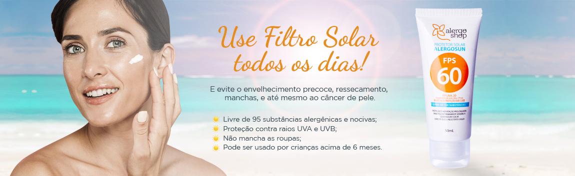Use filtro solar todos os dias