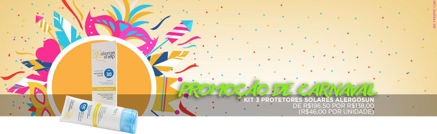 Promoção de Carnaval - Protetores solares